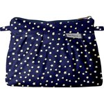 Mini Pleated clutch bag navy gold star - PPMC