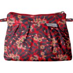 Mini Pleated clutch bag vermilion foliage - PPMC