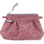 Mini pochette plissée lichen prune rose - PPMC