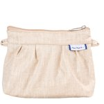 Mini Pleated clutch bag  glitter linen - PPMC