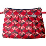 Mini Pleated clutch bag paprika petal - PPMC