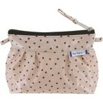 Mini Pleated clutch bag pink coppers spots - PPMC