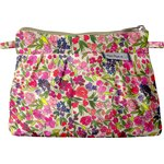 Mini Pleated clutch bag purple meadow - PPMC