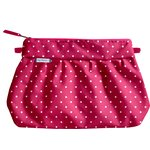 Pleated clutch bag fuschia spots - PPMC