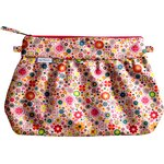 Pleated clutch bag pink meadow - PPMC