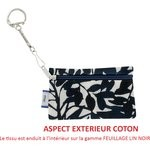 Keyring  wallet chinese ink foliage  - PPMC
