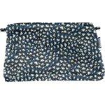 Pochette tissu  eclats bleu nuit - PPMC