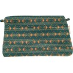 Coton clutch bag eventail or vert - PPMC