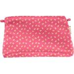 Pochette tissu feuillage or rose - PPMC