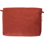 Coton clutch bag lurex terracotta gauze - PPMC