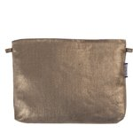 Coton clutch bag copper linen - PPMC