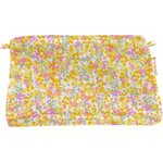 Coton clutch bag mimosa jaune rose - PPMC