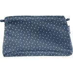 Coton clutch bag silver straw jeans - PPMC