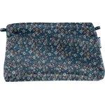 Coton clutch bag paquerette marine - PPMC