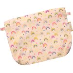 Tiny coton clutch bag rainbow - PPMC