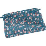 Tiny coton clutch bag fleuri nude ardoise - PPMC