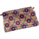 Tiny coton clutch bag fleurs de savane - PPMC
