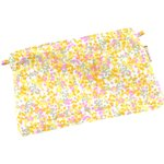 Tiny coton clutch bag mimosa jaune rose - PPMC