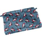 Tiny coton clutch bag flowered night - PPMC