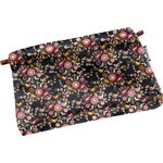 Tiny coton clutch bag ochre bird - PPMC