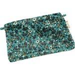 Mini pochette tissu panthère jade - PPMC