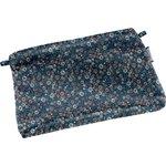 Tiny coton clutch bag paquerette marine - PPMC