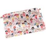Mini pochette tissu petites filles pop - PPMC