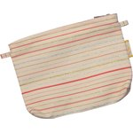 Tiny coton clutch bag silver pink striped - PPMC