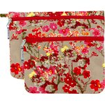 Set of 2 clutches bags flower of cherry tree - PPMC