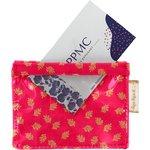 Porte badge feuillage or rose - PPMC