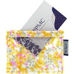 Porte badge mimosa jaune rose - PPMC