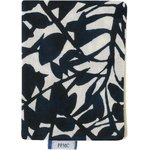 Card holder black linen foliage  - PPMC