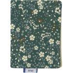 Porte carte fleuri kaki - PPMC
