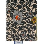 Card holder ochre flower - PPMC