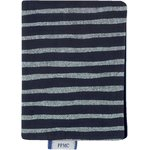 Card holder striped silver dark blue - PPMC