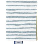 Card holder striped blue gray glitter - PPMC