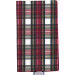 Chequebook cover red and white tartan - PPMC