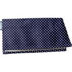Chequebook cover navy gold star - PPMC