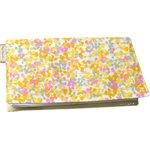 Chequebook cover mimosa jaune rose - PPMC