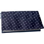 Chequebook cover navy blue spots - PPMC