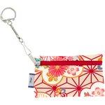 Pochette porte-clés  origamis fleuris - PPMC
