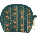 gusset coin purse eventail or vert - PPMC