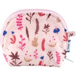 gusset coin purse herbier rose - PPMC