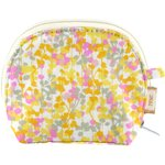 gusset coin purse mimosa jaune rose - PPMC