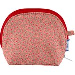 gusset coin purse mini pink flower - PPMC