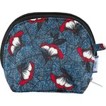 gusset coin purse flowered night - PPMC