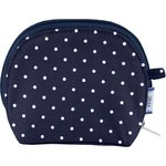 gusset coin purse navy blue spots - PPMC