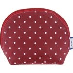 gusset coin purse red spots - PPMC