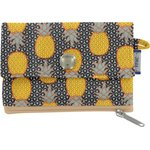 zipper pouch card purse pineapple - PPMC