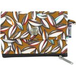 zipper pouch card purse cocoa pods - PPMC